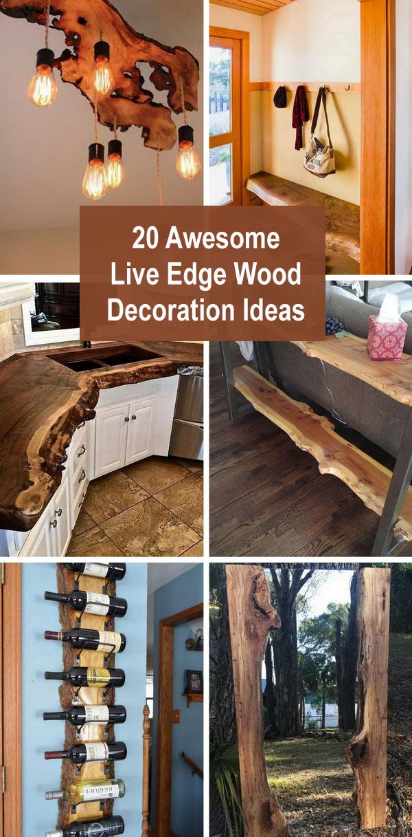 20 Awesome Live Edge Wood Decoration Ideas Live Edge Wood Furniture Live Edge Wood Cedar Wood Projects