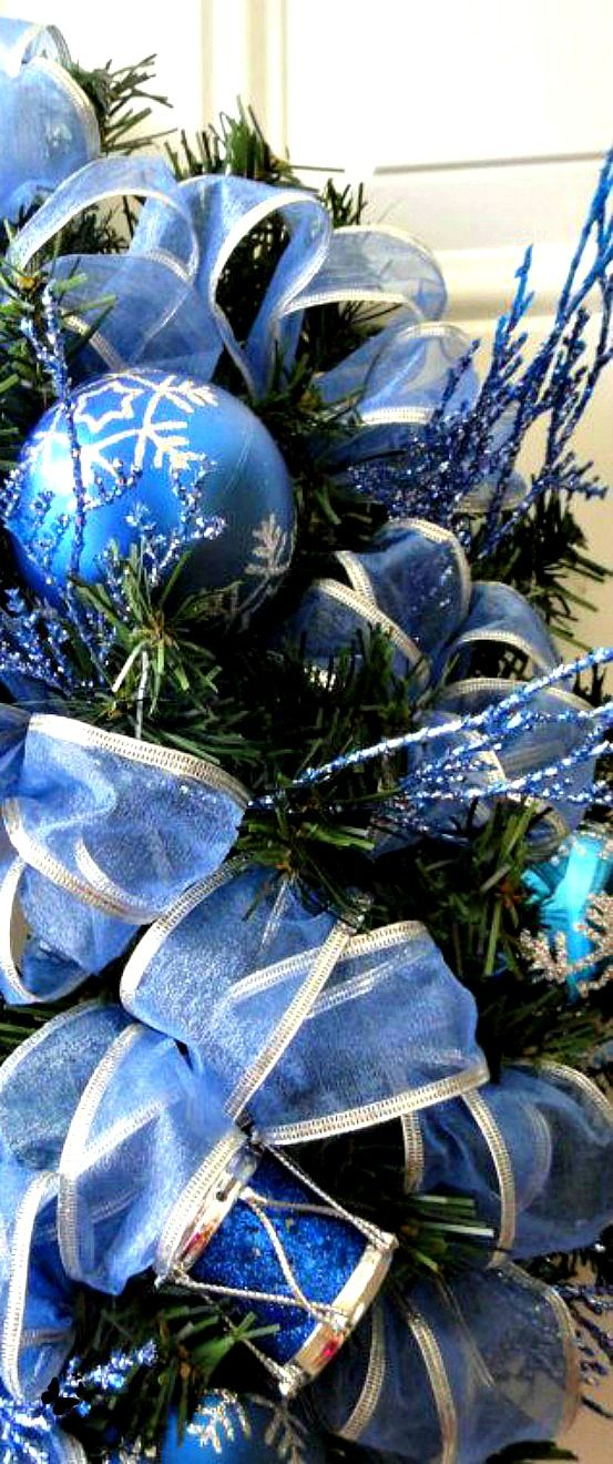Royal Blue Christmas Ornaments Part - 31: Christmas Time In Blue .