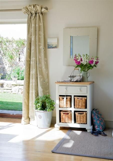 Vanessa Arbuthnott fabric. 4 inch header frill. Curtains in my kitchen. Please visit www.kb-interiors.co.uk for more information we can supply fabric & curtains and ship worldwide. Or visit our own range at www.peonyandsage.com
