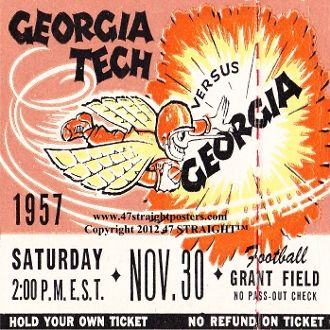 Georgia Football Ticket Coasters, Georgia football gifts, Football Christmas gifts, football birthday gifts, 47 STRAIGHT, football coasters, drink coasters