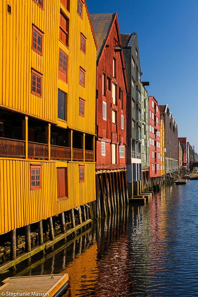 Fishing warehouses by Stéphanie Masson on 500px - Old stilt storehouses along Nidelva River (Trondheim, Norway).