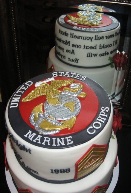 Marine retirement cake