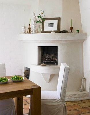 love this fireplace - I can see this in my earthship