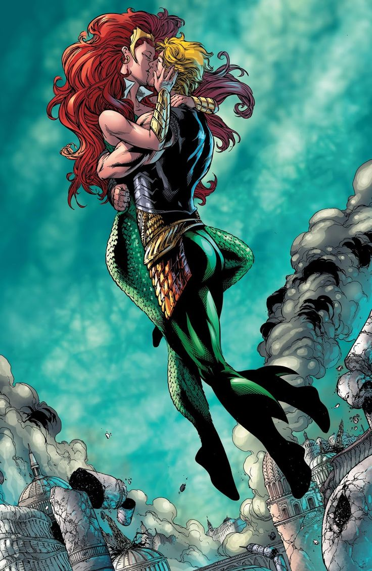 A fantastic page from a storyline best left forgotten. Aquaman #48 Art by…