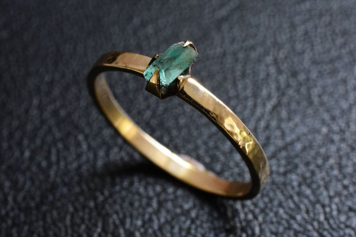 Excited to share the latest addition to my #etsy shop: Raw Australian Emerald set in a 9carat yellow gold engagement ring. handmade Bespoke Jewellery http://etsy.me/2CLNdcA #jewellery #ring #green #no #yes #gold #men #yellow #emerald