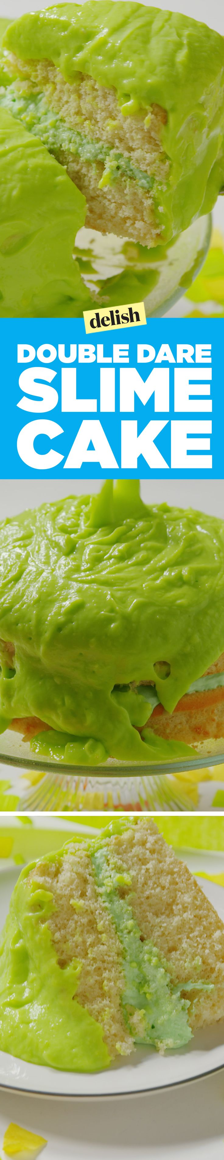 This double dare slime cake is the only way to celebrate the return of your favorite '90s show. Get the recipe on Delish.com.