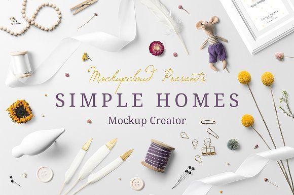 Simple Homes Mockup Creator • Available here → https://creativemarket.com/MockupCloud/1319923-Simple-Homes-Mockup-Creator?u=pxcr