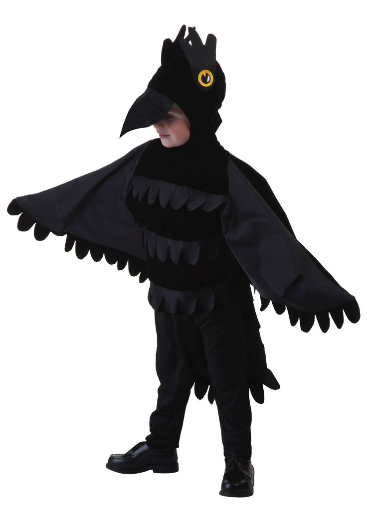 Is your little one a fan a screeching loudly to get your attention? Then they are ready to put on this toddler crow costume and lend it some realistic crow attitude!