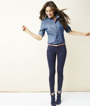 Old Navy Skinny Jeans Outfit - Old Navy
