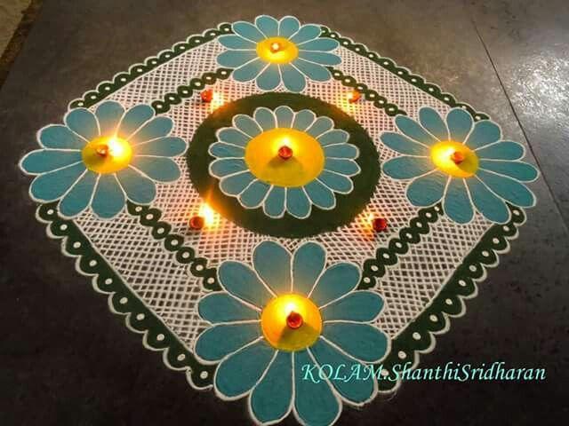 17 best images about rangoli on pinterest mandalas for Annakut decoration ideas