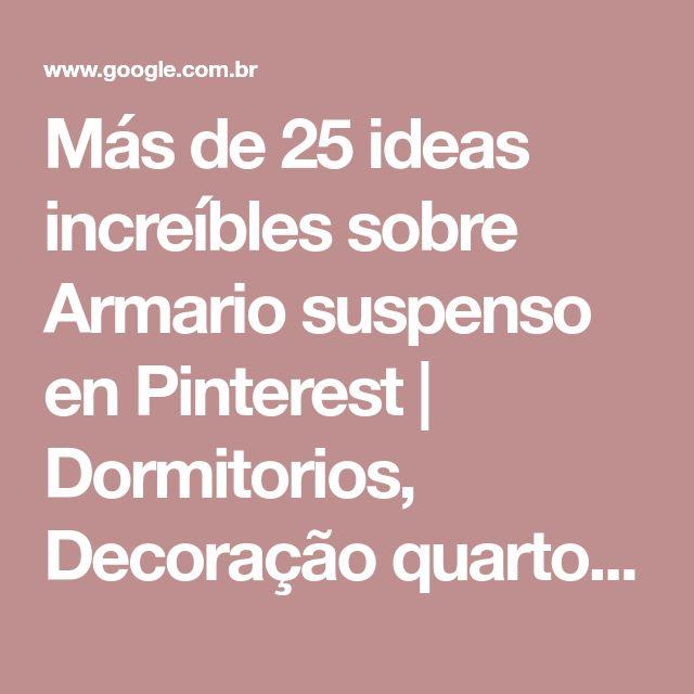 Armario Sala Ikea ~ 25+ melhores ideias de Armario suspenso no Pinterest Apartamentos altos, Quarto e Quartos