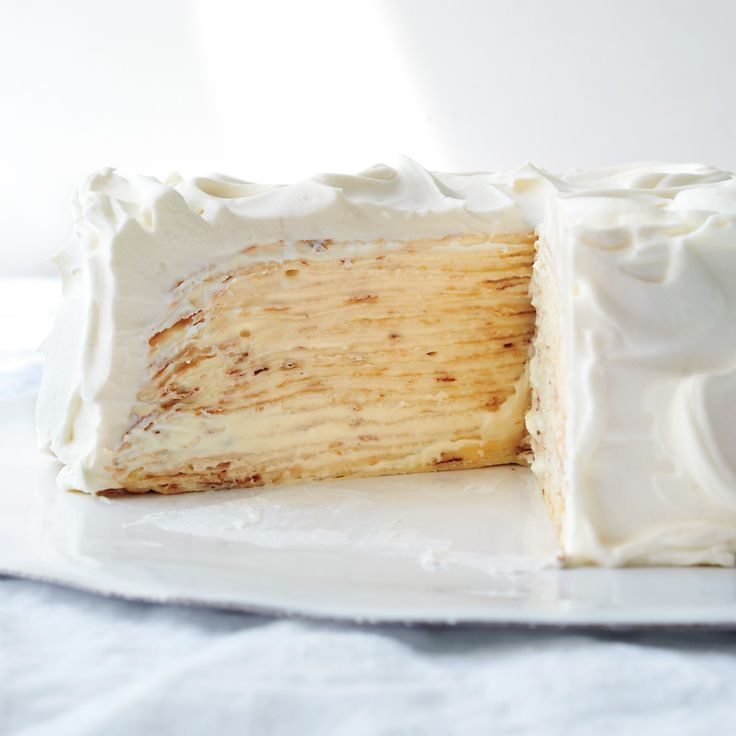 TRY AS GLUTEN-FREE: Lemon-Mascarpone Crepe Cake