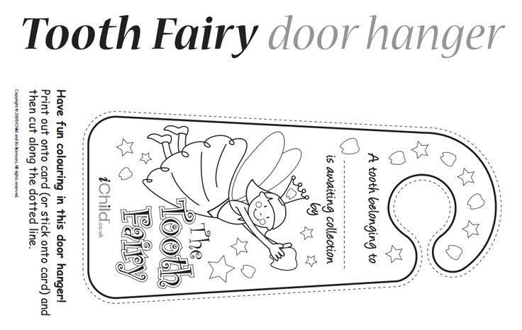 Door hanger printables pinterest tooth fairy and teeth for Hallmark fairy door