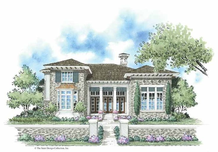 Italianate House Plan with 2732 Square Feet and 3 Bedrooms(s) from Dream Home Source | House Plan Code DHSW42377