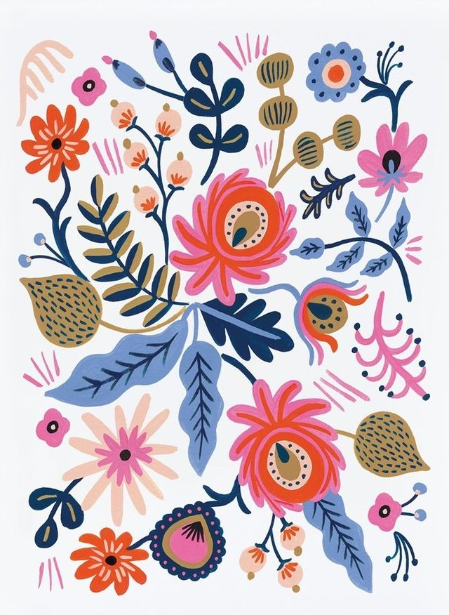 In love with this vintage floral print by Rifle Paper Co. that will add a sophisticated yet feminine touch to the home or office.