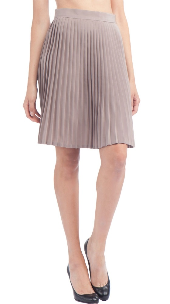 Pleated Skirt in Sand by American Apparel: The Office