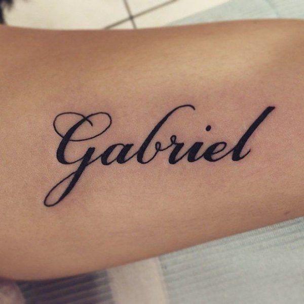 120 Tattoos Of Names Of Children Name Tattoos Baby Name Tattoos Cursive Tattoos