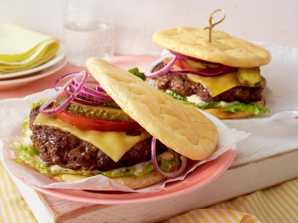 Cloud Bread Cheeseburger