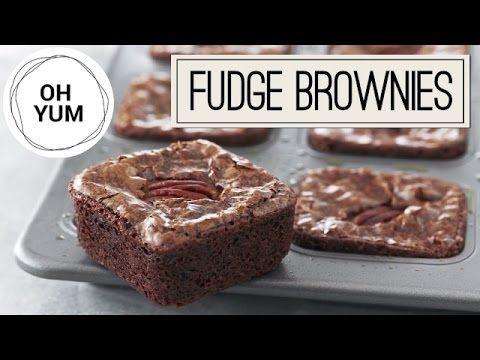 Amazing Fudge Brownies Recipe | Oh Yum With Anna Olson - YouTube