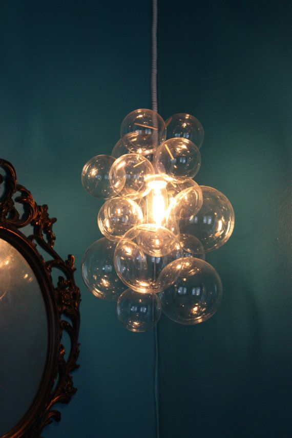 Custom Clear Glass Bubble Chandelier  Art By by TheLightFactory, $375.00  #munire #pinparty #MadeinUSA