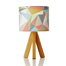 Tipi Lamp // Retro Print Revival creates unique, exclusive, one of a kind lamps and lampshades.