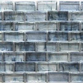 12 x 12 In. Azul Glass Blue Mosaic Tile Kitchen, Bathroom Backsplash Tiling Tiling