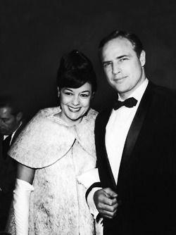 Marlon Brando and wife Movita