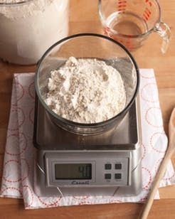 A step-by-step guide for making a sourdough starter.