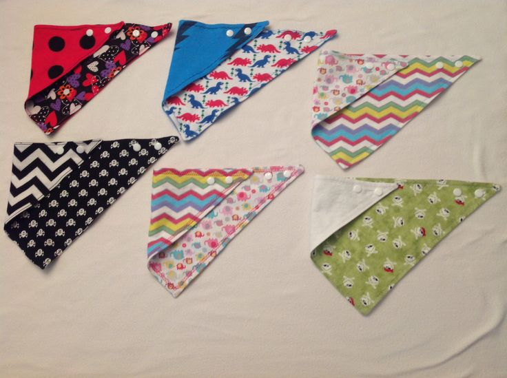 Baby neckerchiefs - made with love