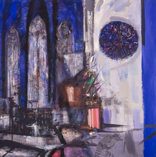Cathedral Interior, Remembrance, 1965 by Sir Robin Philipson (1916-1992)