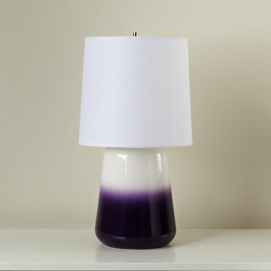 Gumdrop LampDecor Odd, Purple, Ceramics Gumdrop, Dips Dyes, Tables Lamps, Dyes Lamps, Gumdrop Tables, Dip Dye, Room