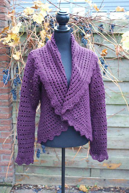 Ravelry: HandgehaaktByD's Drops jacket in purple Zeeman Royal