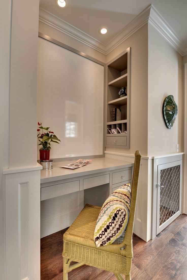 Office Nook With A Built In Dog Kennel