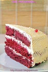 Csak, mert szeretem... kreatív gasztroblog: RED VELVET CAKE VAGYIS A VÖRÖS BÁRSONY TORTA