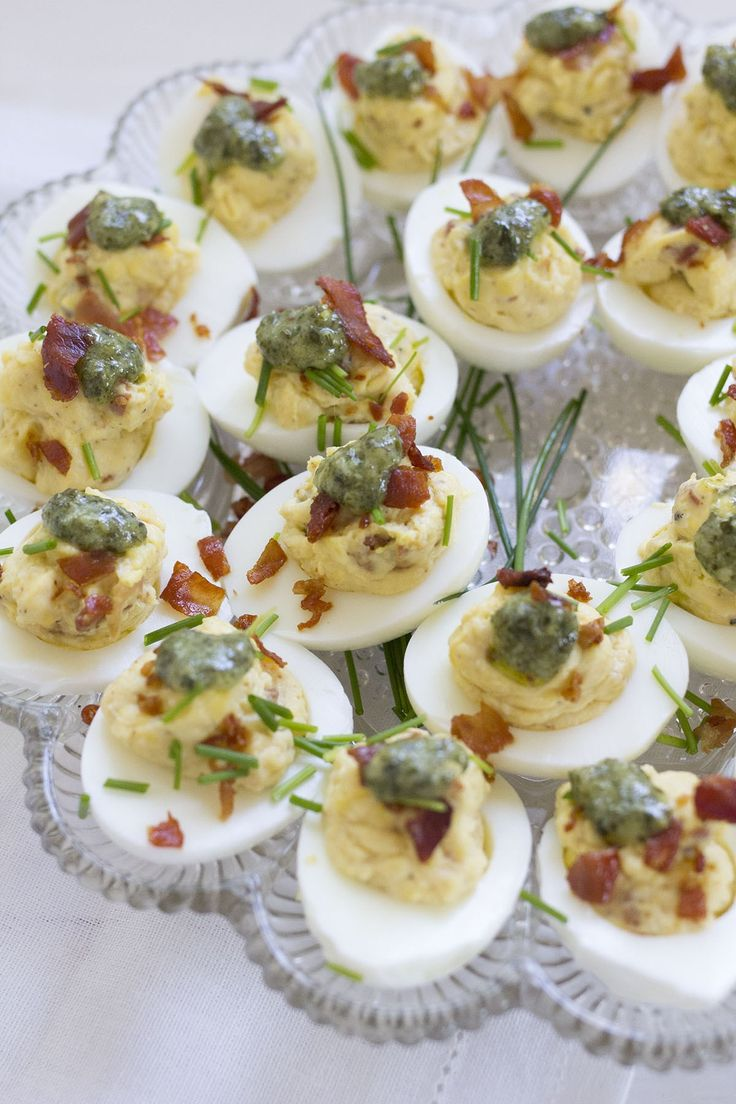 Italian Deviled Eggs with prosciutto, Parmesan and pesto are the perfect Easter appetizer!