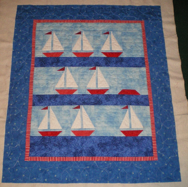 Sailboat Quilt By Piecefulchaos Love The Overturned