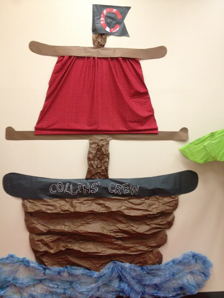 Ahoy! Check out my friend's classroom! All things pirate...