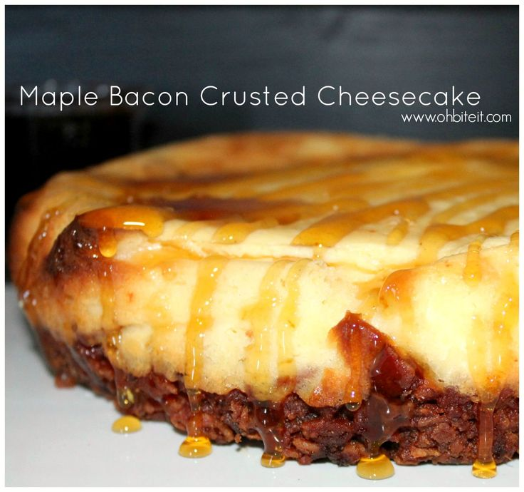 ~Maple Bacon Crusted Cheesecake!...3lbs of bacon. this is a heart attack waiting to happen....but it would be a happy death....