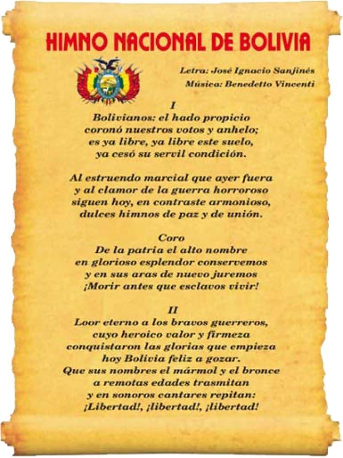 Historia Del Himno Nacional De Bolivia Lifeder Bullet Journal Bolivia Journal