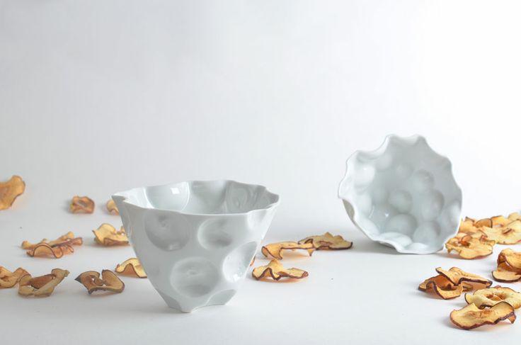 Apple bowl By Pavla Vachunová Julie Šišková - TYFORMY, on Designeros.com $34.00 #designeros