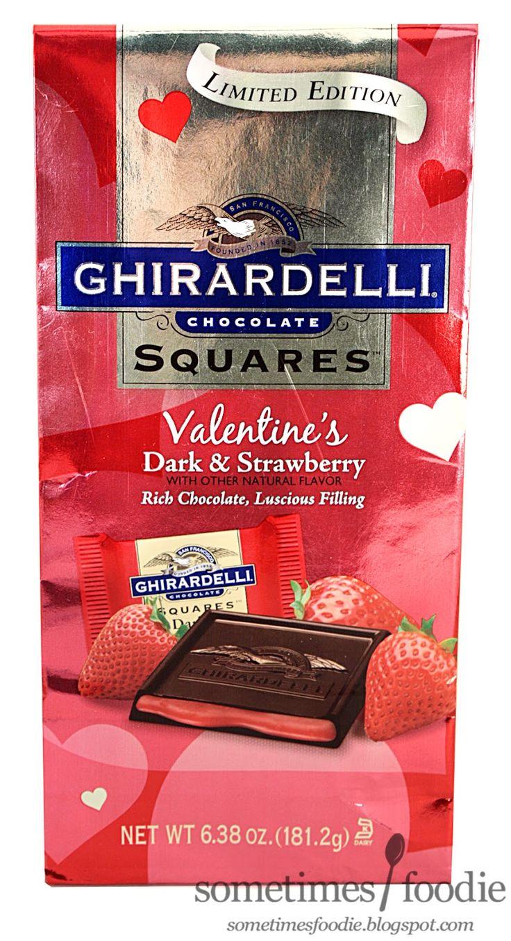 Ghirardelli strawberry filled dark chocolate squares