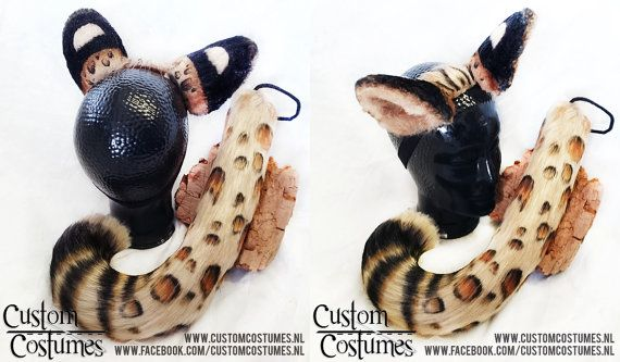 Serval Cat ears and tail
