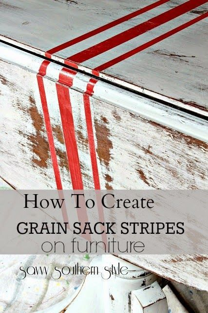 How to create grain sack stripes on furniture @bHome.us #bHome.us
