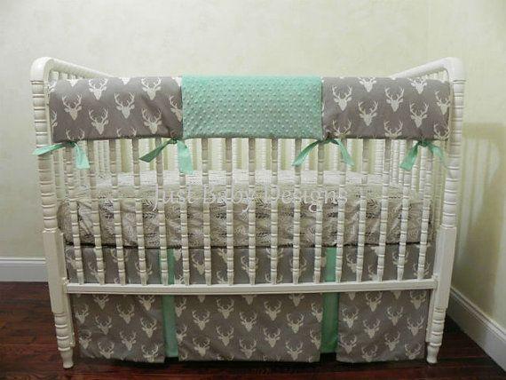 Best Baby Boy Bumperless Crib Bedding Images On Pinterest - Baby boy deer crib bedding sets