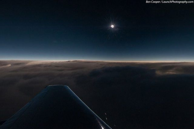Image result for Solar Eclipse at 44,000 ft