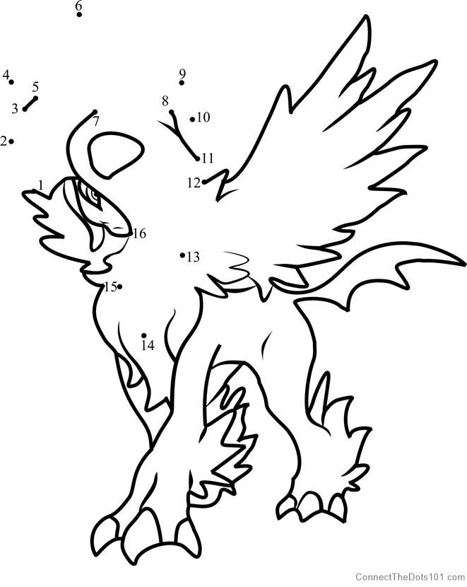 Pokemon Mega Absol Dot To Dot Bee Coloring Pages Turkey Coloring Pages Dinosaur Coloring Pages