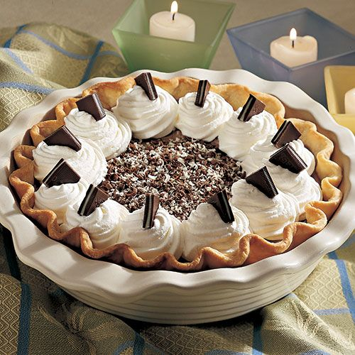 Mint Chocolate Silk Pie - The P&ered Chef® Order your Stoneware Pie Plate here & The 25 best Pampered Chef: Deep Dish Pie Plate images on Pinterest ...