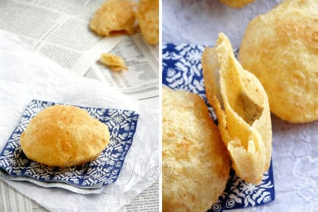 Poori – Deep Fried Puffed Bread | Recipes to cook | Pinterest
