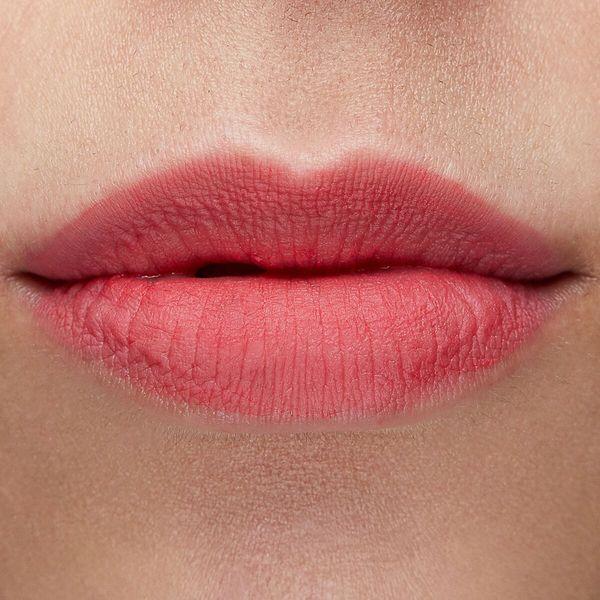Double Scoop sheer matte light coral Ultra Matte Lip swatch fair skin