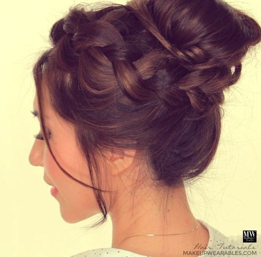 braided hair bun styles bun hair tutorial hairstyles for school prom 7753